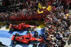 1. Sebastian Vettel, Ferrari; 2. Kimi Raikkonen, Ferrari