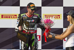 Podium: third place Tom Sykes, Kawasaki