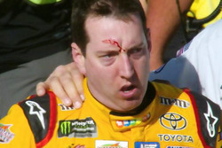 Kyle Busch, Joe Gibbs Racing Toyota after a fight on pit road