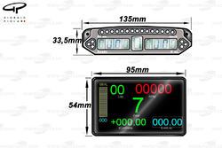 Display comparison (Older PCU6D upper, Newer PCU8D lower)