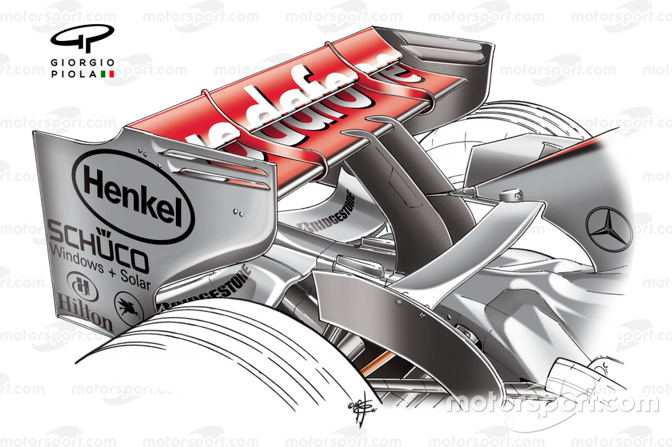 McLaren MP4-22 2007 Canada rear wing