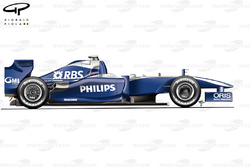 Williams FW31 2009 launch side view