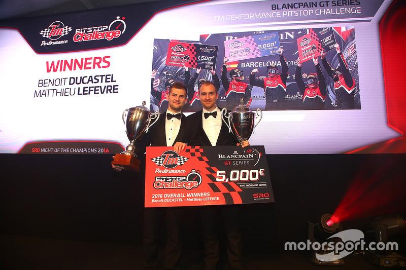 Ganadores del desafío de Pitstop de rendimiento TM, Benoit Ducastel, Matthieu Lefevre, belga Audi Cl