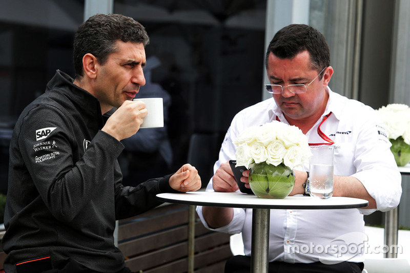 Andrea Stella, McLaren; Eric Boullier, McLaren Racing