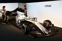 (L to R): Sergio Perez, Sahara Force India F1 and team mate Esteban Ocon, Sahara Force India F1 Team unveil the Sahara Force India F1 VJM10