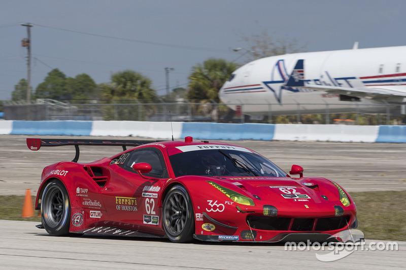 #62 Risi Competizione, Ferrari 488 GTE: Toni Vilander, James Calado