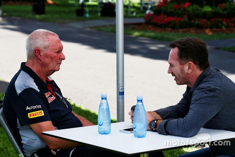 John Booth, Scuderia Toro Rosso; Christian Horner, Red Bull Racing