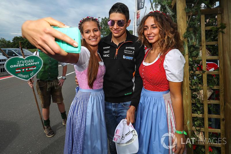 Естебан Окон, Sahara Force India F1 та дівчата