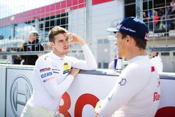 Paul Di Resta, Mercedes-AMG Team HWA, Mercedes-AMG C63 DTM, Mattias Ekström, Audi Sport Team Abt Sportsline, Audi A5 DTM