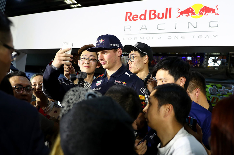 Max Verstappen, Red Bull Racing with fans