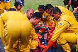 L'équipe médicale s'entraîne à l'extraction d'un pilote