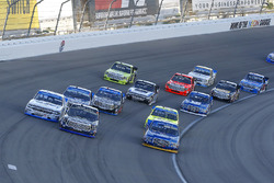 Chase Briscoe, Brad Keselowski Racing Ford, Ryan Truex, Hattori Racing Enterprises Toyota and Johnny Sauter, GMS Racing Chevrolet