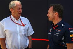 Dr Helmut Marko, Red Bull Motorsport y Christian Horner, jefe de equipo de Red Bull Racing