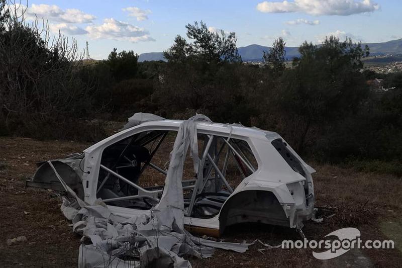 La Skoda Fabia R5 ritrovata in Grecia
