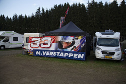 Max Verstappen, Red Bull Racing fans banner on the campsite
