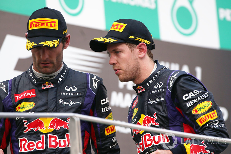 Победитель Себастьян Феттель, второе место – Марк Уэббер, Red Bull Racing