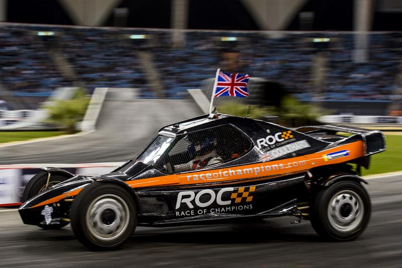 David Coulthard del equipo de Gran Bretaña conduciendo el ROC Car
