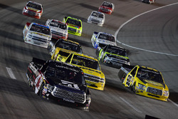 Kyle Busch, Kyle Busch Motorsports, Toyota Tundra Cessna, Grant Enfinger, ThorSport Racing, Ford F-150 Protect The Harvest/Curb Records, Cody Coughlin, GMS Racing, Chevrolet Silverado Jeg's.com
