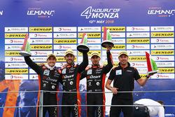 LMP2 podio: ganadores #26 G-Drive Racing Oreca 07 - Gibson: Roman Rusinov, Andrea Pizzitola, Jean Eric Vergne