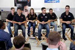 NASCAR 2018 Drive for Diversity Driver Development Class, Ernie Francis Jr., Ryan Vargas, Isabella Robusto, Nick Sanchez, Ruben Garcia Jr., Chase Cabre