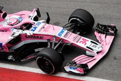 Nikita Mazepin, Force India VJM11, entre au stand