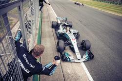 Ganador de la carrera Lewis Hamilton, Mercedes-Benz F1 W08