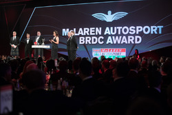 McLaren Autosport BRC Award presentation on stage
