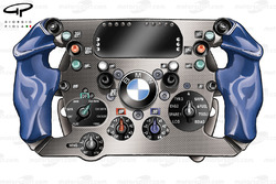 BMW Sauber F1.06 2006 Heidfeld steering wheel