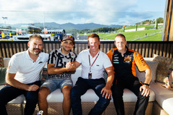 Jens Hainbach, Jorge Martin, Pit Beirer y Aki Ajo, Red Bull KTM Ajo team