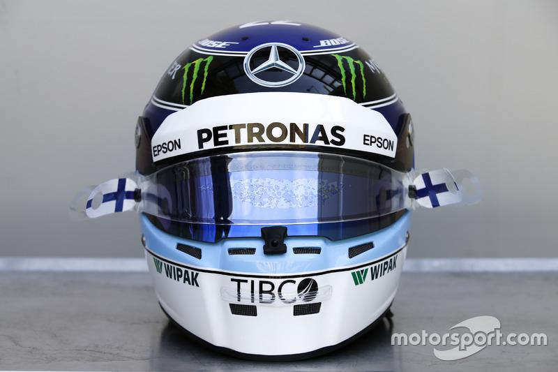 Helm spesial GP Monako Valtteri Bottas, Mercedes-AMG F1