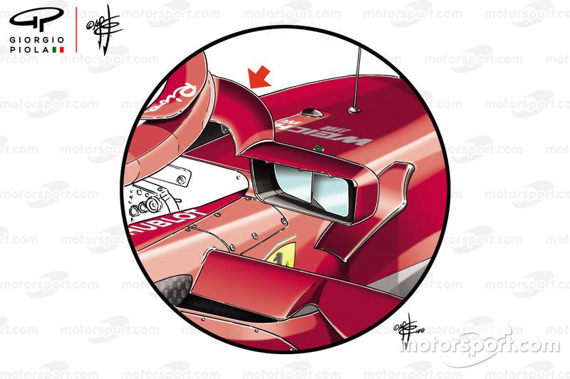 Крепление зеркала Ferrari SF71H