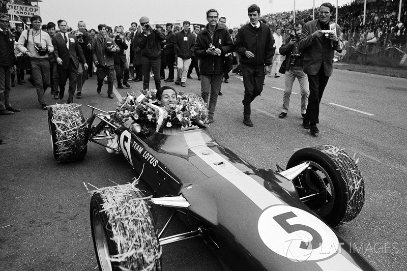 Race winner Jim Clark, Team Lotus 49