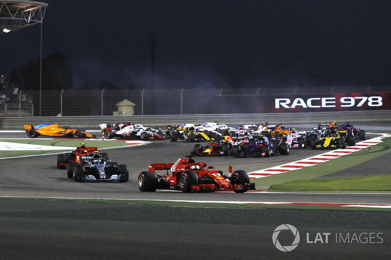 Sebastian Vettel, Ferrari SF-71H líder al inicio