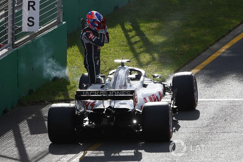 Abandon : Romain Grosjean (Haas)
