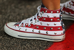 Star and stripes converse shoes