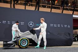 Nico Rosberg, Mercedes AMG F1 Team, Lewis Hamilton, Mercedes AMG F1 Team unveil the Mercedes AMG F1 W07
