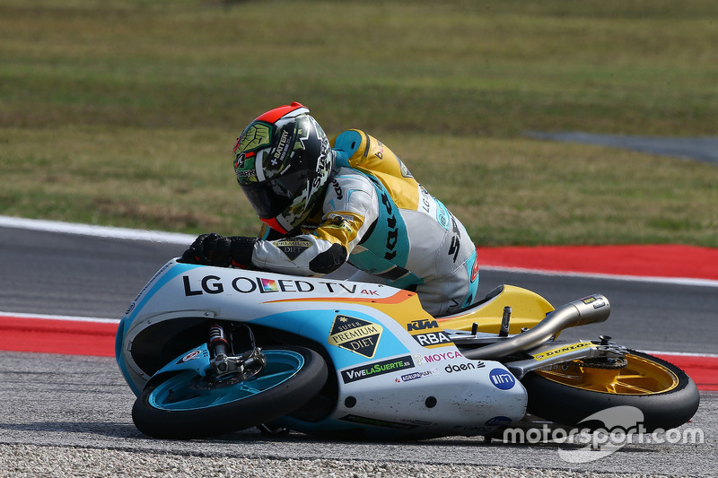 Juanfran Guevara, RBA Racing Team, crash