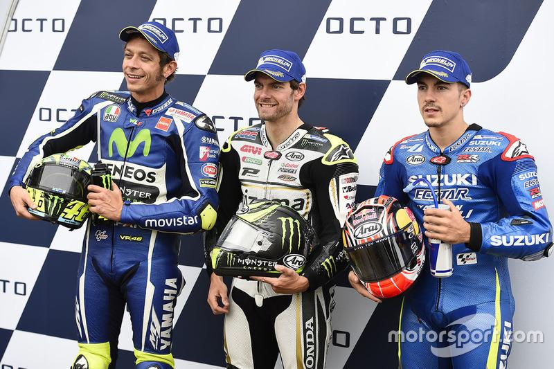 Polesitter Cal Crutchlow, 2. Valentino Rossi, 3. Maverick Vinales