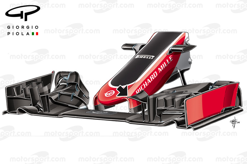 Haas VF-16 front wing, captioned, Chinese Grand-Prix