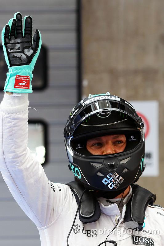 Polezitter Nico Rosberg, Mercedes AMG F1 Team