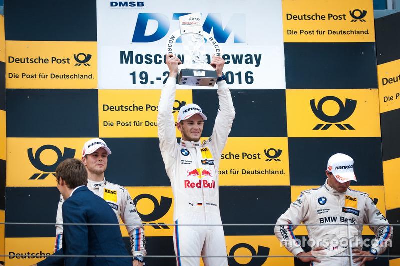 Podio: il vincitore della gara Marco Wittmann, BMW Team RMG, BMW M4 DTM