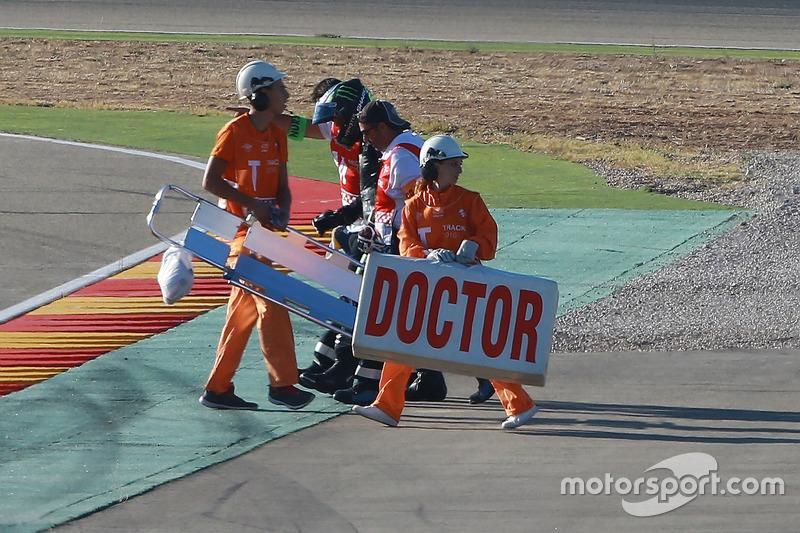 Alex Lowes, Tech 3 Yamaha, Crash