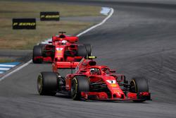 Kimi Raikkonen en Sebastian Vettel, Ferrari SF71H