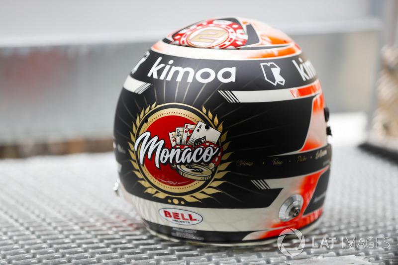 Stoffel Vandoorne, McLaren, kask detayı