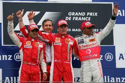 Podio: Felipe Massa, Ferrari, Kimi Raikkonen, Ferrari, Lewis Hamilton, McLaren