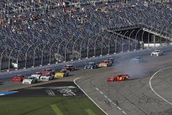 Garrett Smithley, JD Motorsports, Flex Tape Chevrolet Camaro, crash