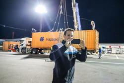 Container arriving at Motegi with Nestor Girolami, Polestar Cyan Racing, Volvo S60 Polestar TC1