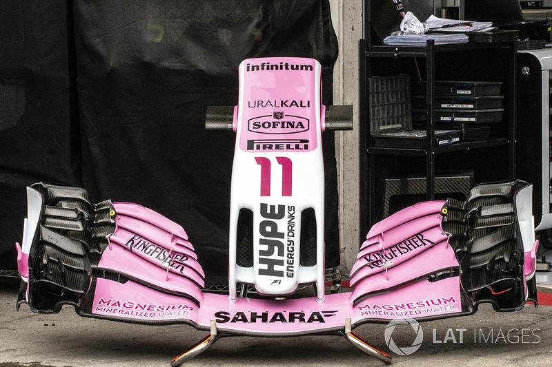 Force India VJM11 neus en voorvleugel