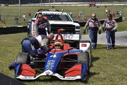 Matheus Leist, A.J. Foyt Enterprises Chevrolet y Safety Team