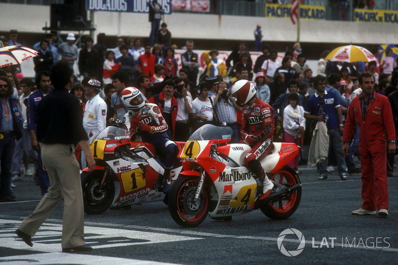 Freddie Spencer et Eddie Lawson au GP de France 1984